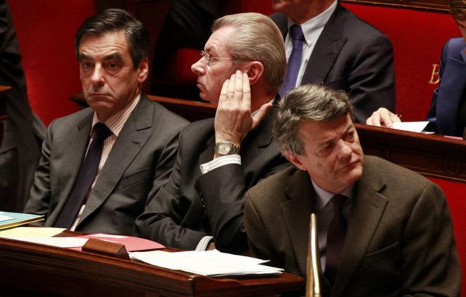Le sénateur Henri de Raincourt (au centre), ancien ministre du gouvernement Fillon