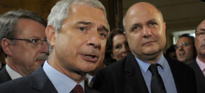 Claude Bartolone, le président de l'Assemblée, en compagnie de Bruno Le Roux, le patron du groupe PS © Reuters