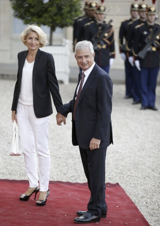 Le président de l'Assemblée Claude Bartolone et son épouse, chargée de mission à son cabinet © Reuters