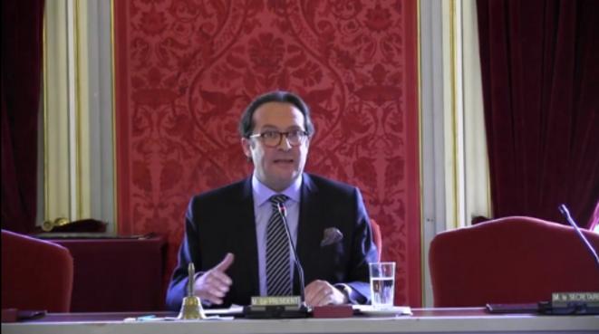 Pierre Bédier, lors de son discours d'investiture vendredi 11 avril 2014