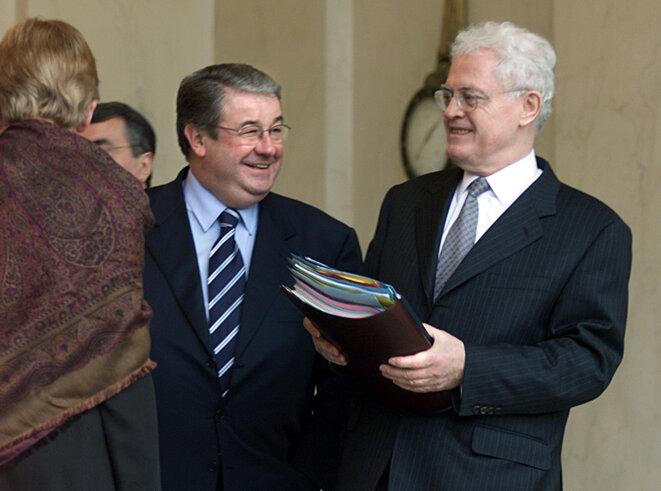 D. Vaillant en février 2002 avec le Premier ministre L. Jospin