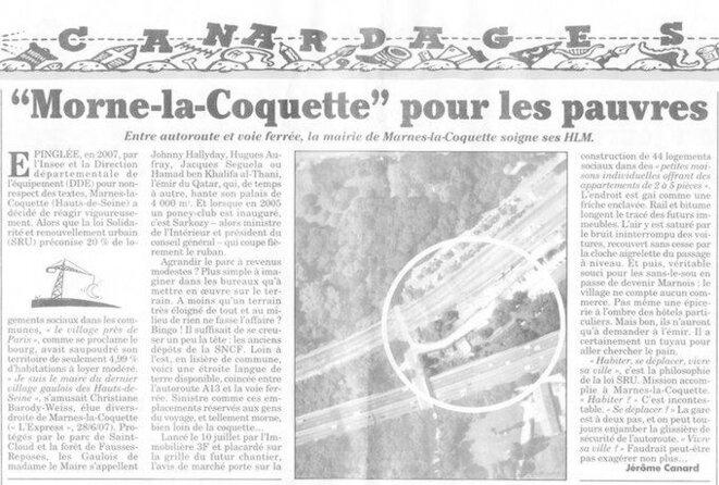 article 2009 le canard enchainé
