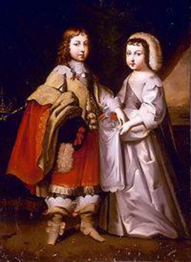 Portrait de Louis XIV et de son frère Monsieur, Duc d'Orleans.