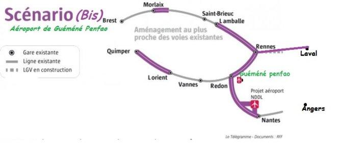 situation  de Guéméné Penfao © le Télégramme modifié Bernard Uguen