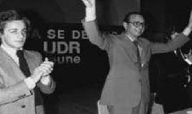 Sarkozy et Chirac en 1976