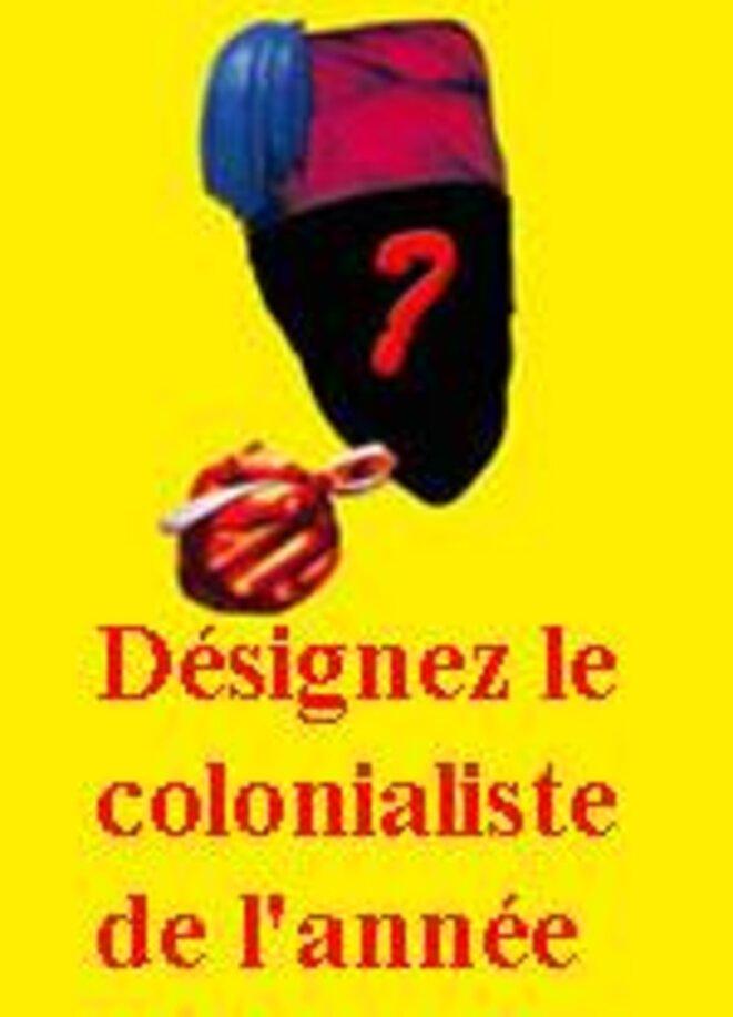 participez au sondage du colonialiste de l'année © Sortir du Colonialisme