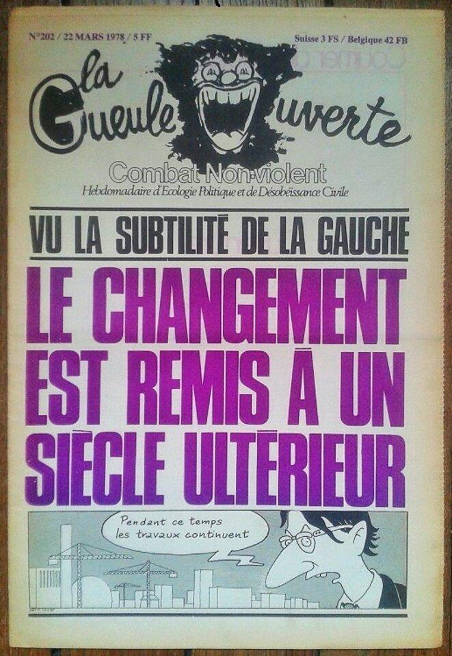 Une de la G.O., 22 mars 1978