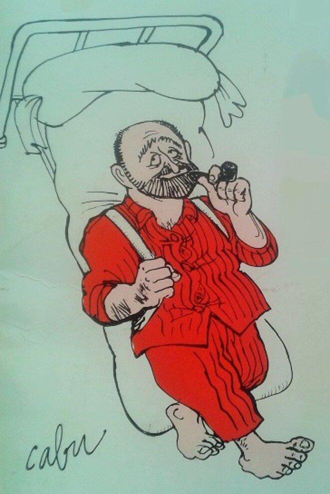 caricature d'Arthur pour la couverture de