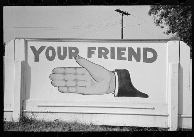 Publicité pour une station service, Louisiana, 1938 © Russell Lee