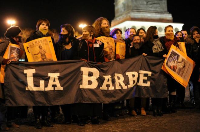 Le groupe d'action féministe La Barbe lutte pour la parité © DR