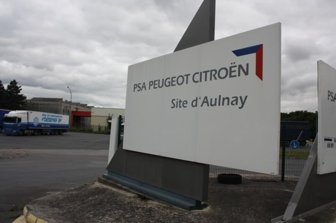 L'entrée du site de PSA à Aulnay © Ellen Salvi