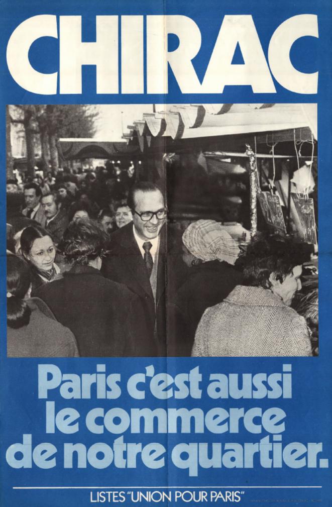 Affaiche de campagne, 1977. © www.jacqueschirac-asso.fr