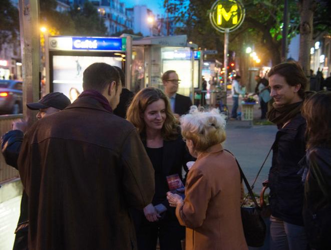 Nathalie Kosciusko-Morizet en campagne dans le XIVe, en octobre 2013. © Flickr/nk_m