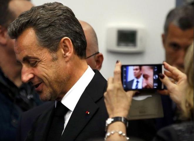 Nicolas Sarkozy à Nice, le 10 mars. © Reuters