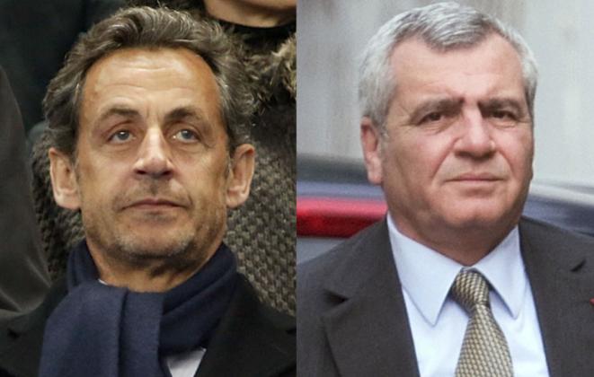 Nicolas Sarkozy et son avocat, Thierry Herzog. © Reuters