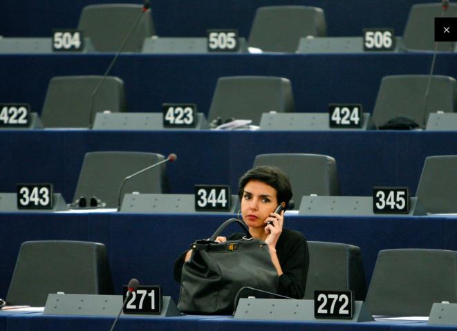 Rachida Dati au parlement européen, à Strasbourg. © Reuters