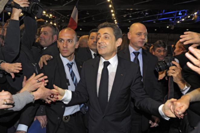 Nicolas Sarkozy en campagne. © Reuters