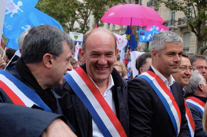 Les députés UMP Daniel Fasquelle et Laurent Wauquiez. © ES