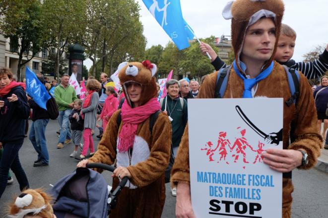 Dans le cortège parisien du 5 octobre. © ES
