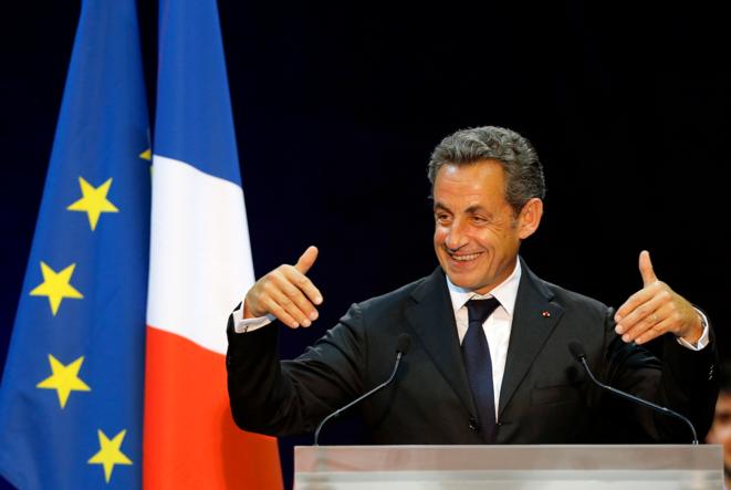 Nicolas Sarkozy en meeting à Marseille, le 28 octobre.