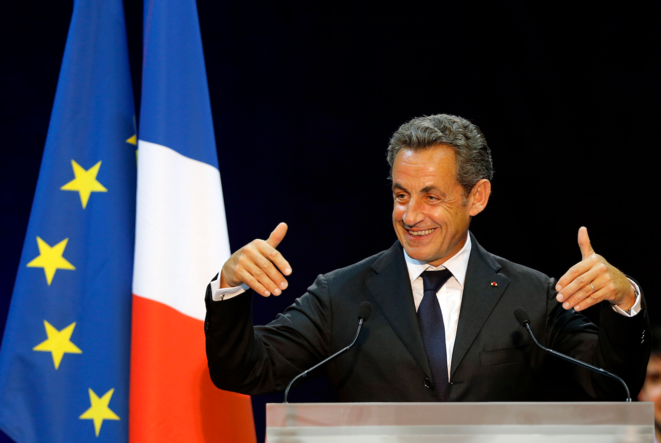 Nicolas Sarkozy en meeting à Marseille, le 28 octobre. © Reuters