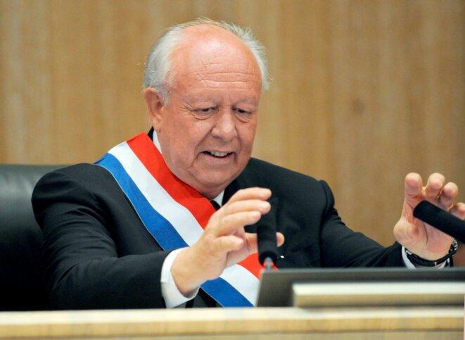 Jean-Claude Gaudin, 74 ans, brigue un quatrième mandat à Marseille.