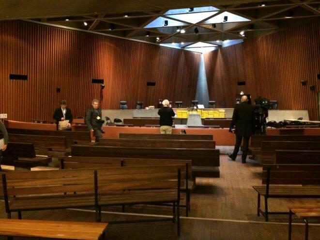 La salle d'audience du tribunal correctionnel de Lille. © ES