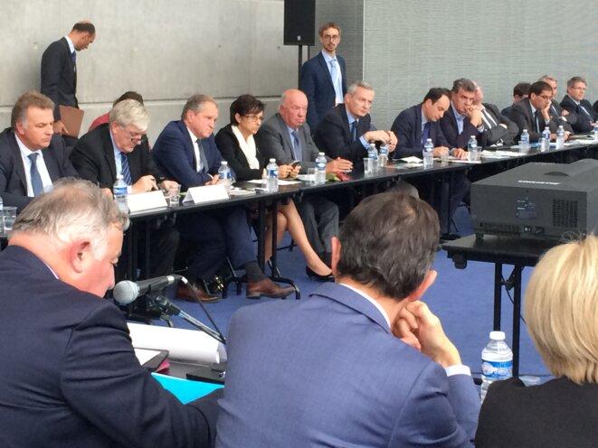 Réunion de parlementaires à Reims, le 23 septembre. © ES