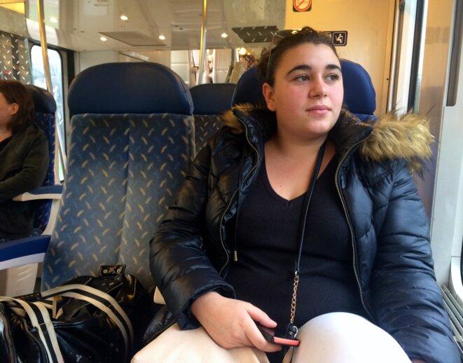 Chloé, une habituée de la ligne Toulon-Les Arcs-Draguignan. © ES