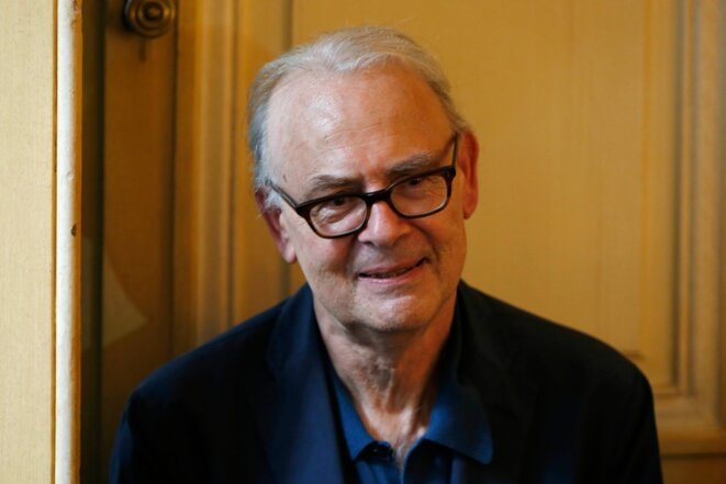 Patrick Modiano, le 9 octobre à Paris.