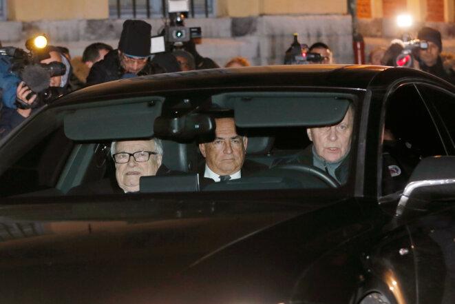 Dominique Strauss-Kahn arrive au tribunal correctionnel de Lille, le 2 février. © Reuters