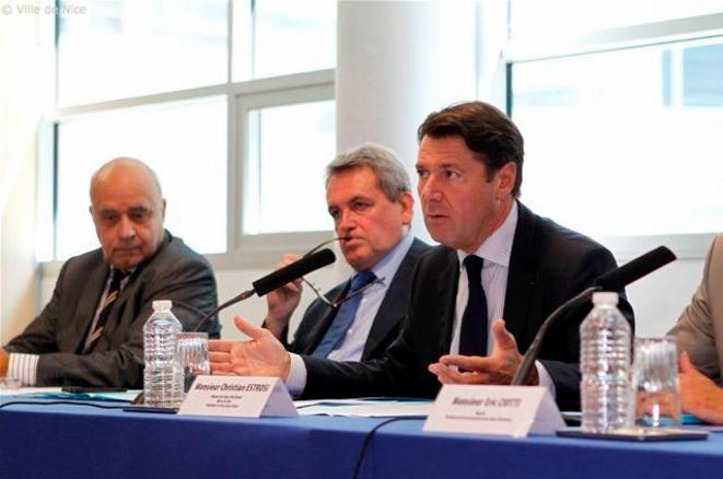 Christian Tordo, Jean-Michel Drevet et Christian Estrosi © Ville de Nice