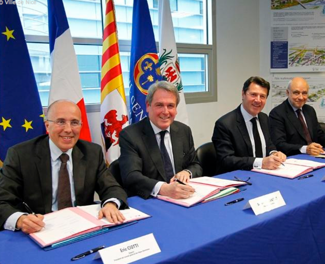 Eric Ciotti, Jean-Michel Drevet, Christian Estrosi et Christian Tordo © Ville de Nice