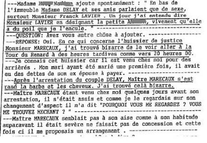 déclaration de Nadine Hocq