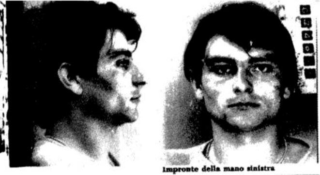 La fiche de police de Cesare Battisti lors de son arrestation en 1979 © DR
