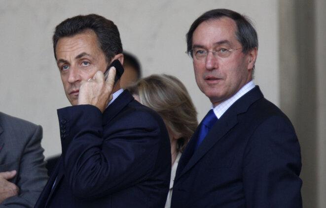 Nicolas Sarkozy et Claude Guéant, son secrétaire général de l'Élysée, en 2008.