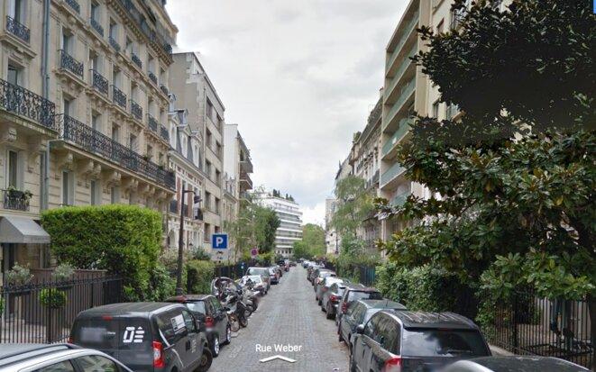 La rue Weber, voisine de l'avenue Foch, où Claude Guéant achète son appartement.