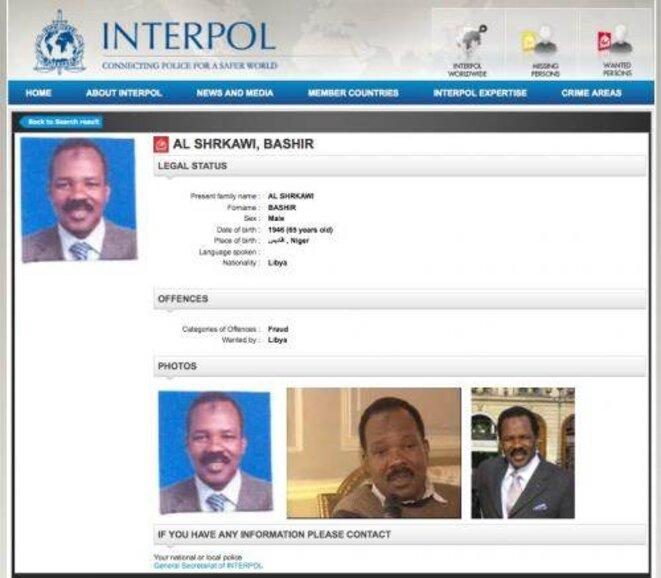 Le mandat notice rouge d'Interpol