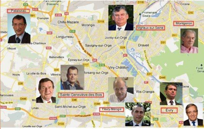 Les maires et anciens maires des communes concernées par notre enquête © DR