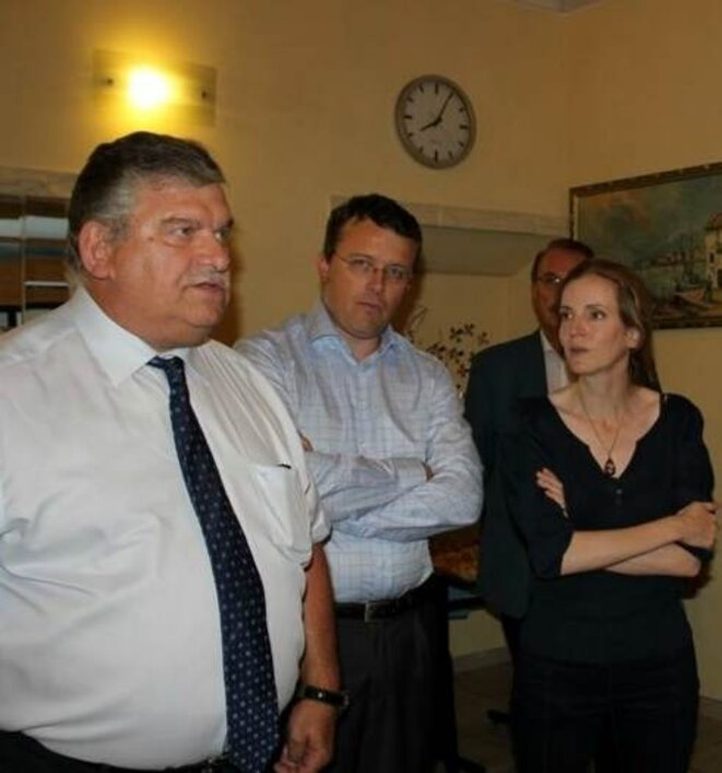 Serge Poinsot, François Durovray, et Nathalie Kosciusko-Morizet, députée de l'Essonne, en 2012 © DR