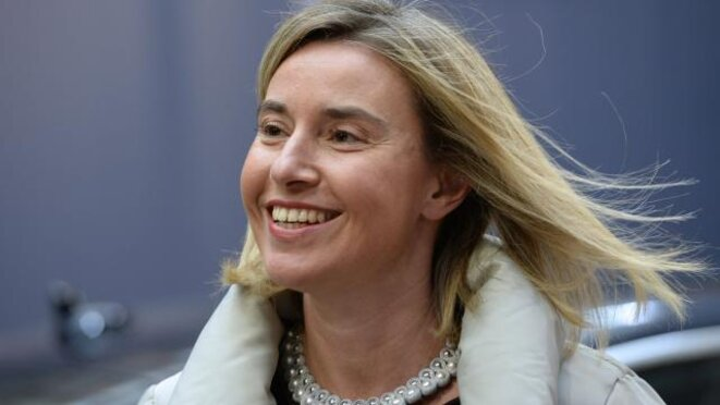 Federica MOGHERINI, responsable de la diplomatie de l'UE