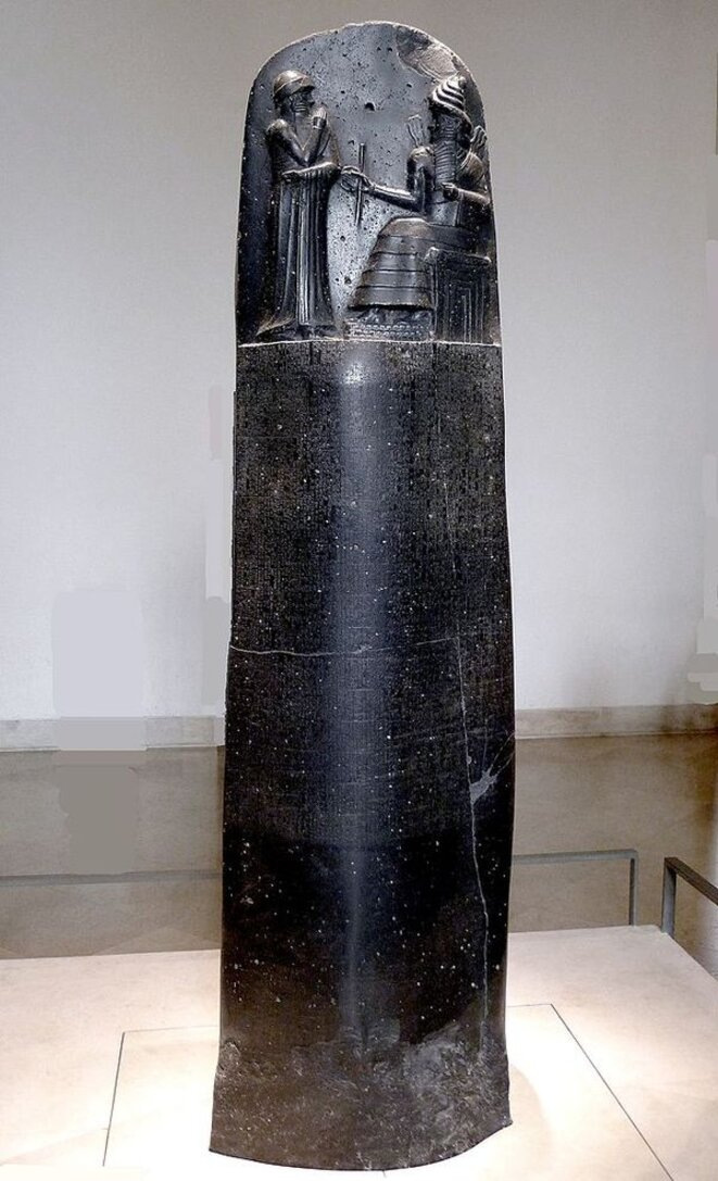 Le code d'Hammurabi ... n'a que 3.800 ans ... petit bras !