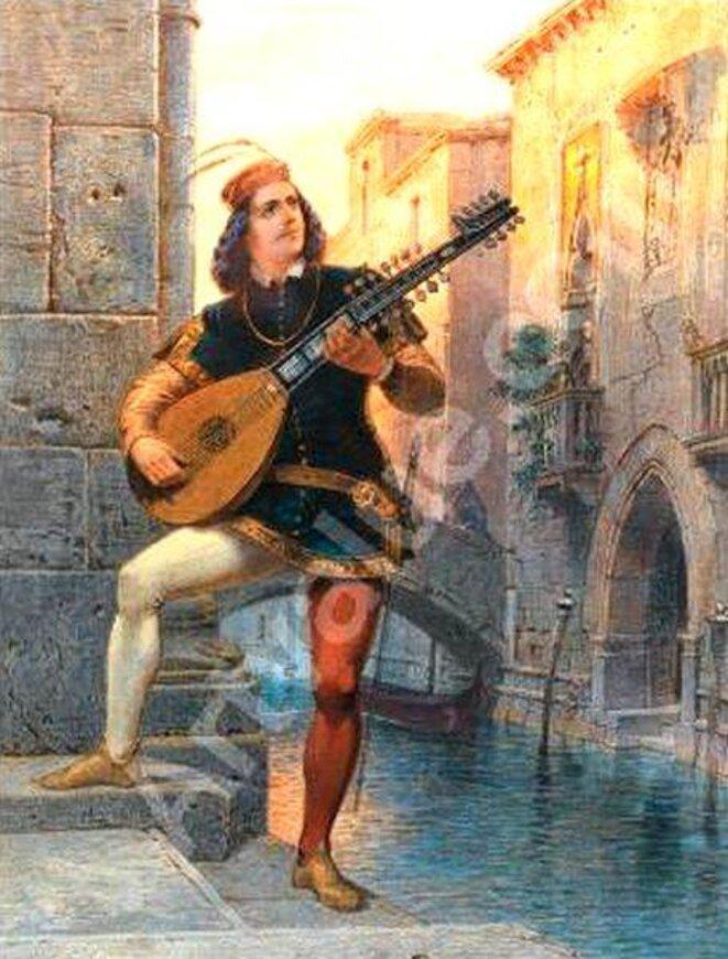 Joueur de mandoline à Venise