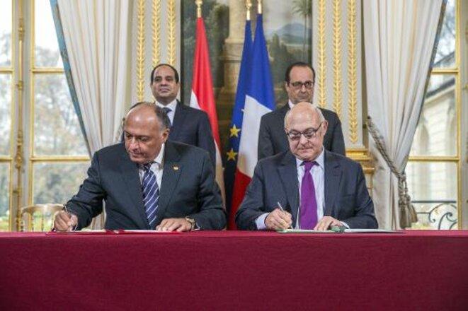 Signature de contrats d'armes entre la France et l'Egypte © Crédits photo Le Point