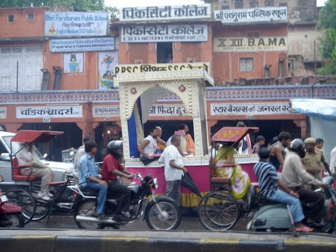 Inde, Jaipur au Rajasthan, août 2008.  © Benjamin Joyeux