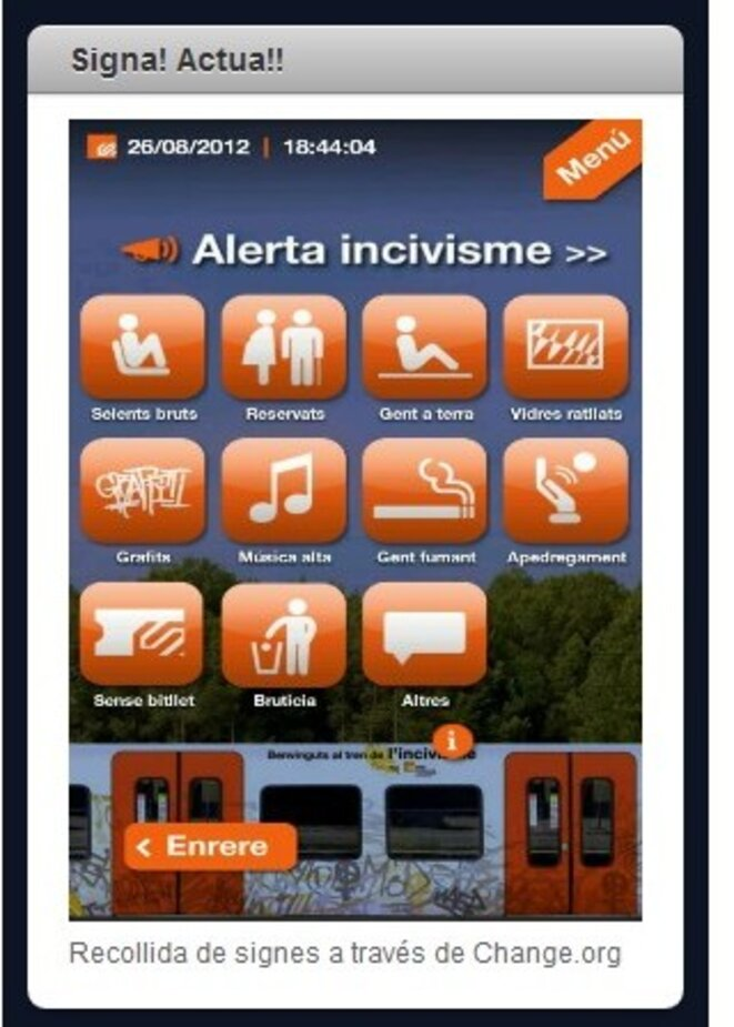 Capture d'écran du service © Miquel Rubio