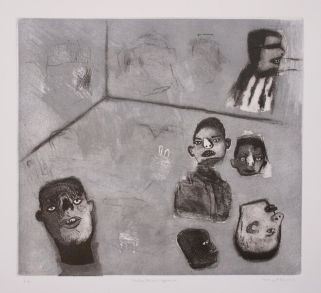 Yaser Safi,Syrie, Sans titre, 2011  (45x55 - Gravure sur papier)