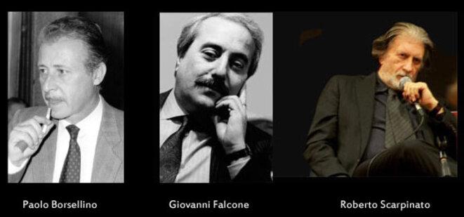 Les trois juges antimafia italiens dont les textes sont publiés aux éditions La contre allée © Libfly.com