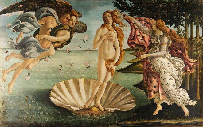 La naissance de Vénus 1485  (Galerie des Offices, Florence) ©  SANDRO BOTTICELLI