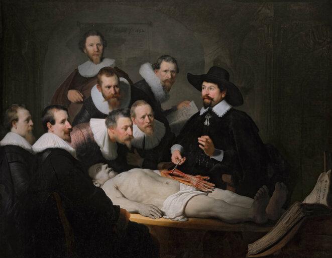 La Leçon d'anatomie du docteur Tulp © REMBRANDT 1632